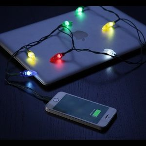 NWT - Holiday Lights iPhone cable